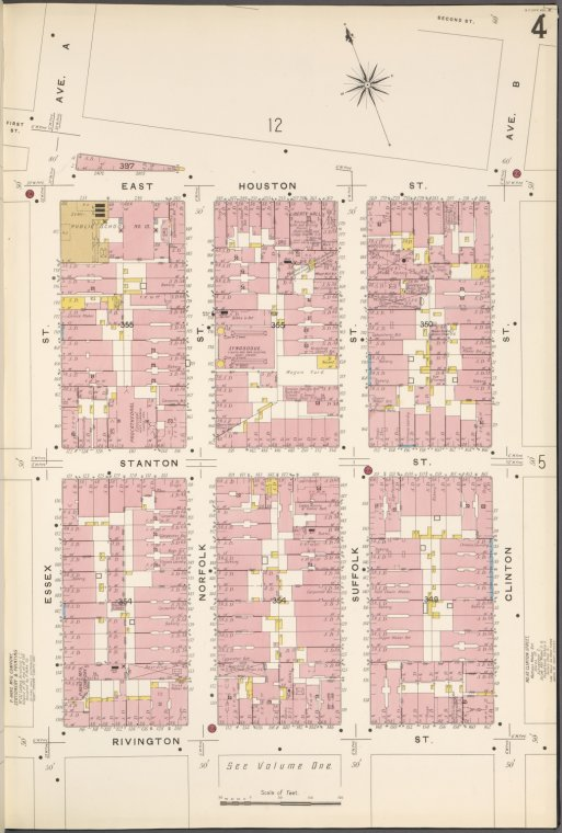 Manhattan, V. 2, Plate No. 4 [Map bounded by Houston St., Clinton St., Rivington St., Essex St.]
