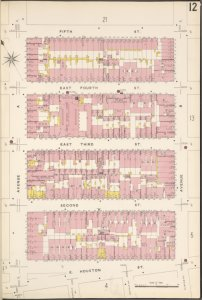 Manhattan, V. 2, Plate No. 12 [Map bounded by 5th St., Avenue B, E. Houston St., Avenue A]