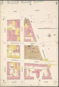 Manhattan, V. 3, Plate No. 2 [Map bounded by West St., Christopher St., Hudson St., Morton St.]