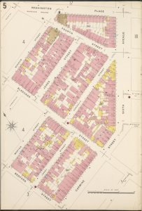 Manhattan, V. 3, Plate No. 5 [Map bounded by Washington Place, 6th Ave., Carmine St., Bedford St., Morton St., Barrow St.]