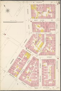 Manhattan, V. 3, Plate No. 6 [Map bounded by W. 4th St., Macdougal St., W. Houston St., Bedford St., Carmine St., 6th Ave.]