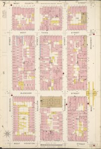 Manhattan, V. 3, Plate No. 7 [Map bounded by W. 4th St., W. Broadway, W. Houston St., Macdougal St.]