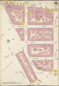 Manhattan, V. 1, Plate No. 30 [Map bounded by Bowery, Canal St., Allen St., East Broadway.]