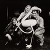 Publicity photo of Elizabeth Swados, Meryl Streep, and Joseph Papp during rehearsals of Alice in Concert