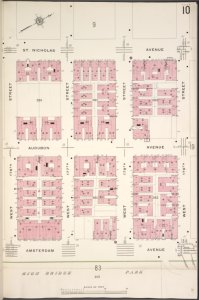 Manhattan, V. 12, Plate No. 10 [Map bounded by St. Nicholas Ave., W. 179th St., Amsterdam Ave.,, W. 176th St.]
