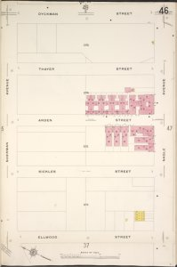 Manhattan, V. 12, Plate No. 46 [Map bounded by Dyckman St., Nagle Ave., Ellwood St., Sherman Ave.]