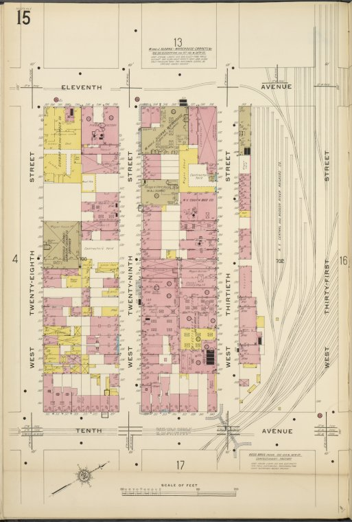 Manhattan, V. 5, Plate No. 15 [Map bounded by 11th Ave., West 31st St., 10th Ave., West 28th St.]