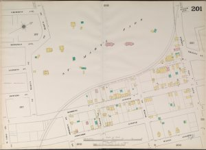 Manhattan, V. 9, Double Page Plate No. 201 [Map bounded by Crimmins Ave., St. Mary's Park, East 149th St., Concord Ave., East 142nd St.]