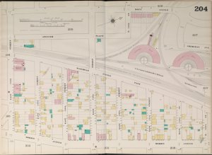 Manhattan, V. 9, Double Page Plate No. 204 [Map bounded by Mott Ave., East 153rd St., Morris Ave., East 144th St.]