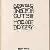 A portfolio of linoleum cuts. (Title page)