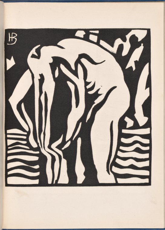 This is What Horace Brodzky and The Bather Looked Like  in 1914
