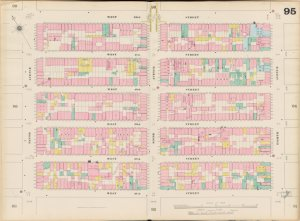 Bronx, V. 5, Double Page Plate No. 95 [Map bounded by W. 42nd St., 8th Ave., W. 37th St., 10th Ave.]