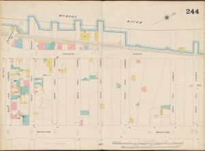 Bronx, V. 11, Double Page Plate No. 244 [Map bounded by Hudson River, W. 138th St., Boulevard, W. 130th St.]