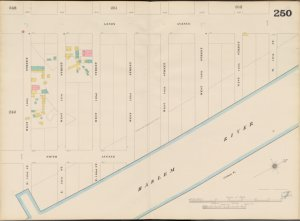 Bronx, V. 11, Double Page Plate No. 250 [Map bounded by Lenox Ave., Harlem River, E. 140th St., W. 140th St.]