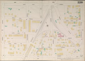 Bronx, V. 10, Double Page Plate No. 220 [Map bounded by E. 165th St., Washington Ave., E. 161st St., Morris Ave.]