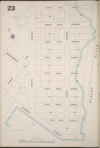 Manhattan, V. 12, Plate No. 23 [Map bounded by W. 208th St., Harlem River, Academy St., Nagle Ave.]