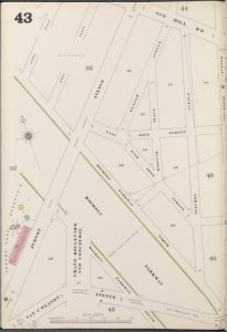 Bronx, V. 13, Plate No. 43 [Map bounded by Gun Hill Rd., Steuben Ave., Van C'tlandt Ave., Jerome Ave.]
