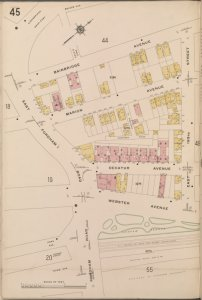 Bronx, V. 14, Plate No. 45 [Map bounded by Bainbridge Ave., E. 193rd St., Fordham Rd.]