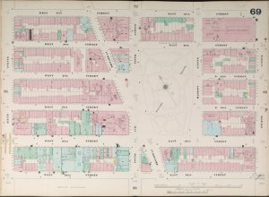 Bronx, V. 4, Double Page Plate No. 69  [Map bounded by W. 27th St., E. 27th St., 4th Ave., E. 22nd St., W. 22nd St., 6th Ave.]