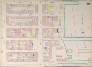 Bronx, V. 4, Double Page Plate No. 70  [Map bounded by E. 31st St., East River, E. 26th St., 2nd Ave.]