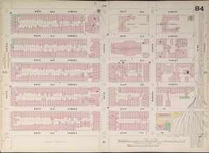 Bronx, V. 4, Double Page Plate No. 84  [Map bounded by W. 52nd St., E. 52nd St., Park Ave., E. 47th St., W. 47th St., 6th Ave.]