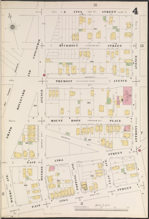 Bronx, V. 14, Plate No. 4 [Map bounded by E. 178th St., Anthony Ave., E. 175th St., Grand Blvd.]
