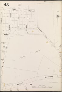 Bronx, V. A, Plate No. 45 [Map bounded by Marrin St., Throgg's Neck Rd., Eastern Blvd., Balcom Ave.]