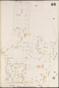 Bronx, V. A, Plate No. 46 [Map bounded by 3rd St., Eastern Blvd., Fort Schuyler Rd.]