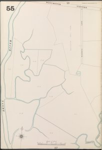 Bronx, V. A, Plate No. 55 [Map bounded by Westchester Turnpike, Bronx River]
