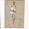 """Shirtwaist"""" collar on soft dressmaker coat."""