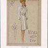 Dressy coat with box pleats.]