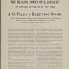J.M. Riley's electric comb. Electricity for the head and hair.