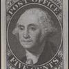 5c black Washington provisional reprint single