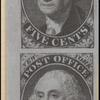 5c black Washington provisional vertical pair