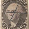 5c black Washington provisional pos. 1 single