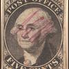 5c black Washington provisional pos. 13 single