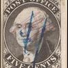 5c black Washington provisional pos. 15 single