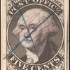 5c black Washington provisional pos. 16 single