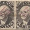5c black Washington provisional pos. 4-5 pair