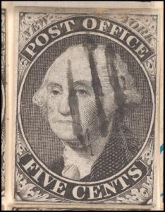 5c black Washington provisional pos. 8 single