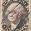 5c black Washington provisional pos. 9 single