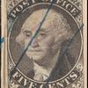5c black Washington provisional pos. 10 single