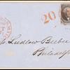 10c black Washington pair on cover
