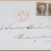 10c black Washington pair on cover