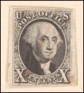 10c black Washington single