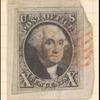 10c black Washington single on cover