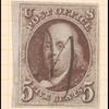 5c red brown Franklin single