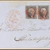10c black Washington strip of 3 on express mail cover