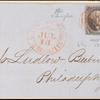 10c black Washington singles on express mail cover