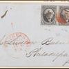 10c black Washington pair on express mail cover
